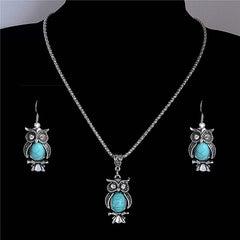 Owl jewelry set for women