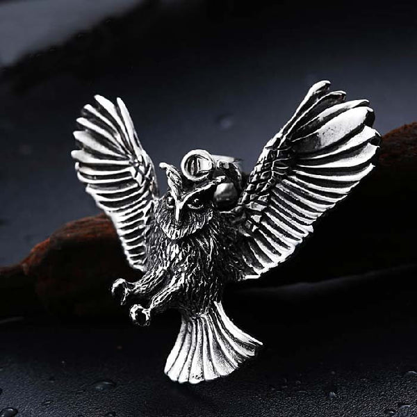 Owl pendant for men