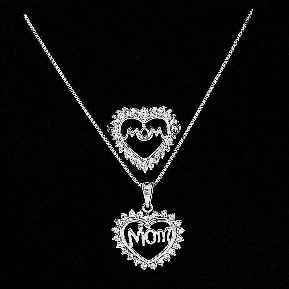 Sterling Silver Mom Necklace For Mother's Day