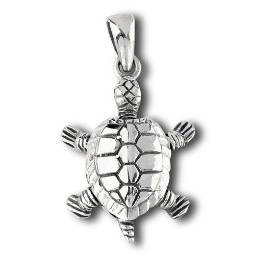 925 Sterling silver turtle pendant