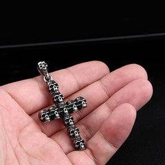 cross skull pendant for men