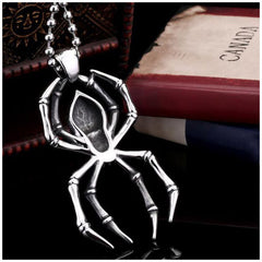Spider pendant for men
