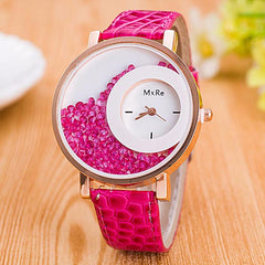 Rhinestone Blue watch pink