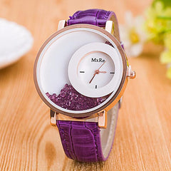 Rhinestone Blue watch purple