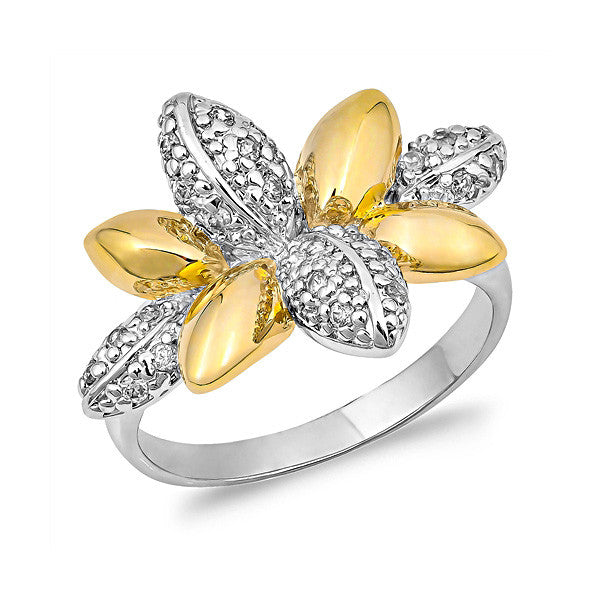 Silver Gold Plated Ring