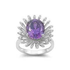 Purple Silver Ring