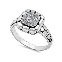 Sterling silver Wall ring CZ