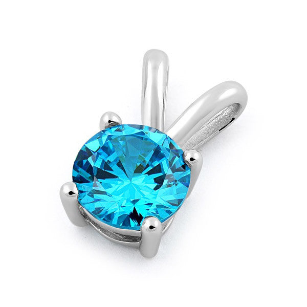 Sterling Silver Blue CZ Set