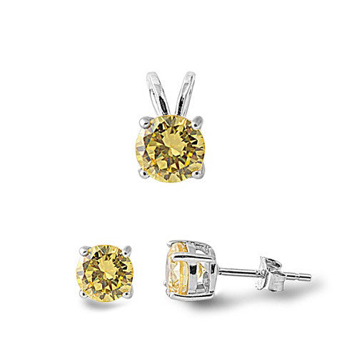 Sterling Silver yellow set for kids and women