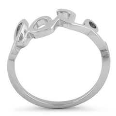 925 Sterling silver love ring for women