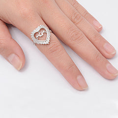 Sterling Silver Mom Ring For Mother's Day