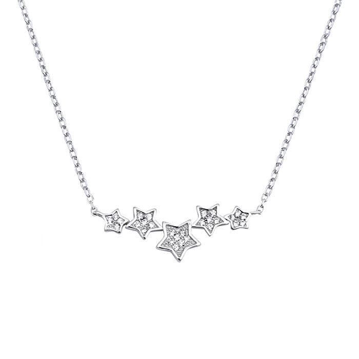 Silver Star Necklace for women