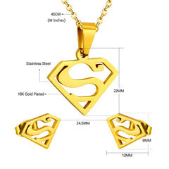 Superman Set Jewelry