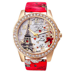 Red Paris watch for women