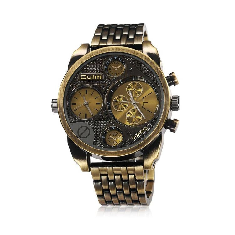 Oulm Gold watch for men