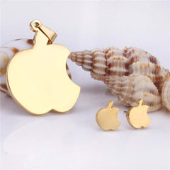 Stainless Steel Apple Pendant