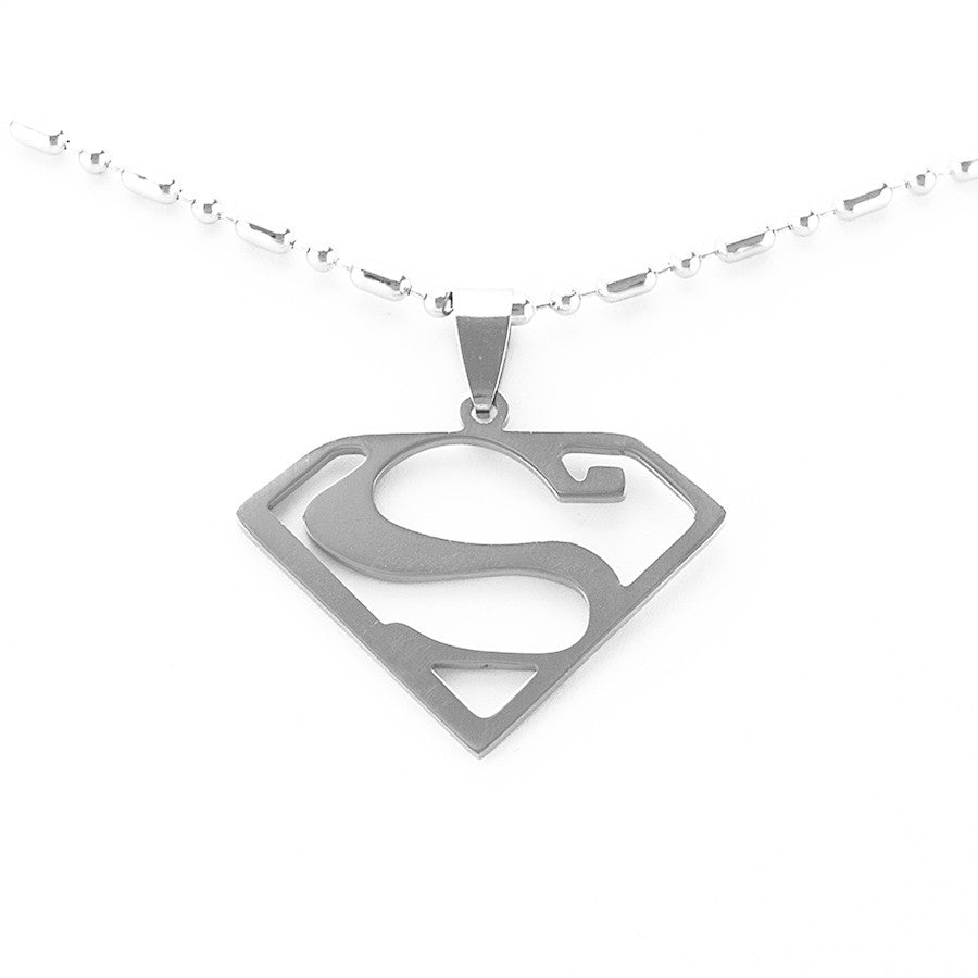 Superman pendant with chain
