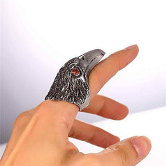 stainless steel eagle ring for men