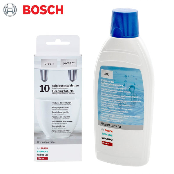 Genuine Bosch Descaler & Cleaning Tablets Coffee Machine Promo Set - 311813 Decalcifier 311769 / 311560 / 310575 / 310967 - thecoffeefiltershop