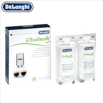 Genuine DeLonghi Descaler for Coffee Machines - 2 x 100ml - EcoDecalk DLSC200 - 5513296021 - thecoffeefiltershop