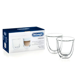 Genuine Delonghi Cappuccino Double Wall Thermo Glasses - Set of 2