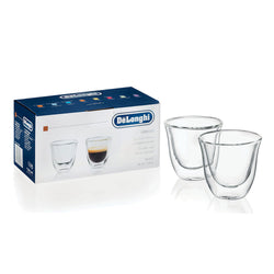 Genuine Delonghi Espresso Double Wall Thermo Glasses - Set of 2