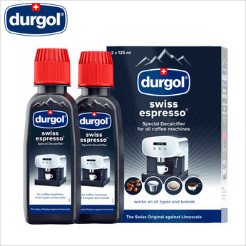 Durgol Swiss Espresso Special Descaler Decalcifier for Espresso Coffee Machine 2 x 125ml - thecoffeefiltershop