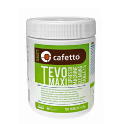 Cafetto Tevo Maxi Espresso Coffee Machine Cleaner OMRI Organic Cleaning Tablets - 150 Tablets