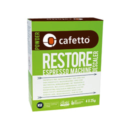 Cafetto Restore Descaler Descaling Powder OMRI Listed for Organic Use - 4 x 25g Sachet