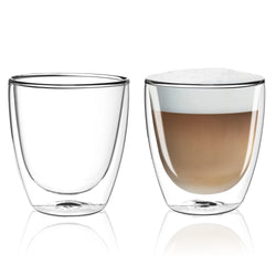 Cappuccino Double Wall Dual Thermo Shield Insulated Glasses