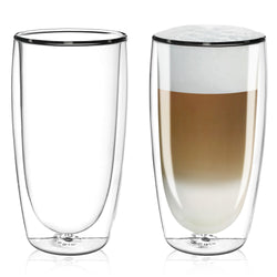 Caffe Latte Double Wall Dual Thermo Shield Insulated Glasses