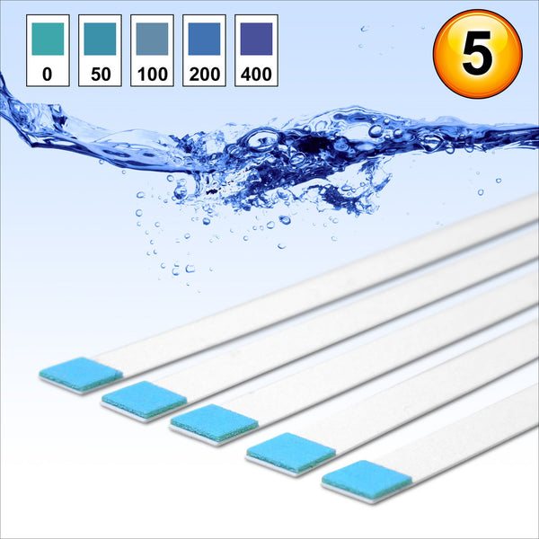 Water Hardness Test Strips Kit Testing Tester Softener (5 strips) - Fast, Easy Accurate Kit - thecoffeefiltershop