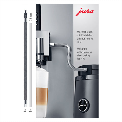 Jura Milk Pipe With Stainless Steel Casing - HP2 - thecoffeefiltershop