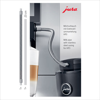 Jura Milk Pipe With Stainless Steel Casing - HP3 - thecoffeefiltershop