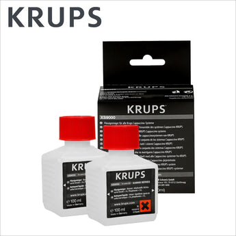 Genuine Krups Coffee Machine Liquid Cleaner XS9000 - 2 x 100ml - thecoffeefiltershop
