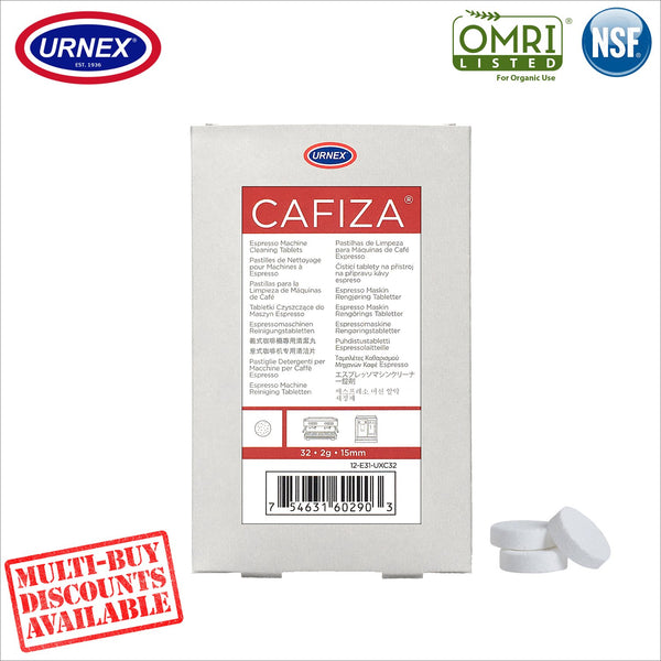 25% OFF Urnex CAFIZA® E31 15mm 2g Cleaning Tablets Cleaner Coffee Espresso Machine Organic - thecoffeefiltershop