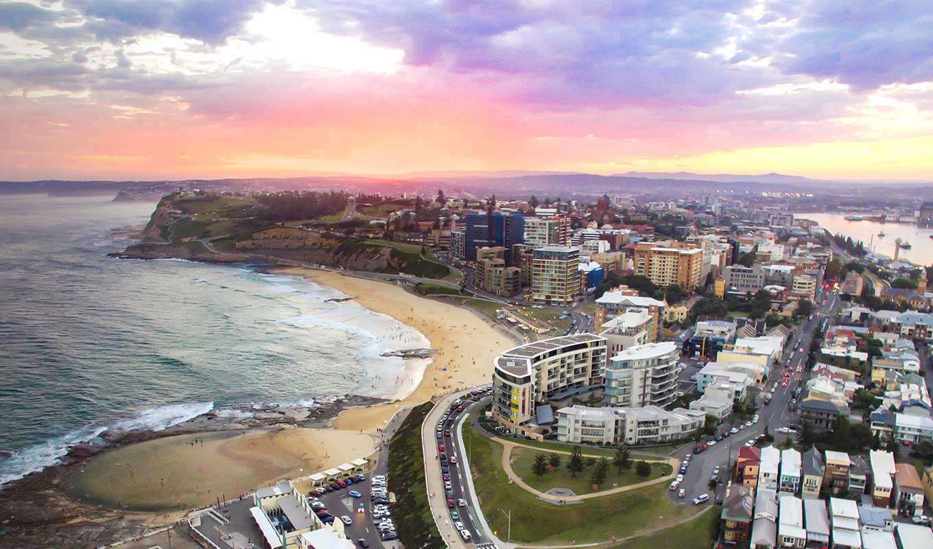Picture of Newcastle NSW Australia where our head office is located