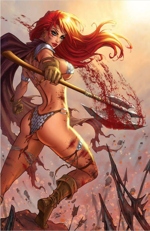 RED SONJA #19 DAWN MCTEIGUE SET OF 3 COVERS!
