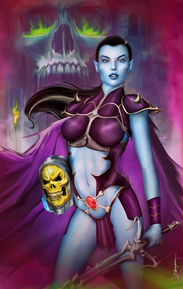 Faros Lounge Art by Sheldon Bueckert  Skeletor Cosplay Set Of 2 Covers,  - Slab City Comics - UK Comic Shop