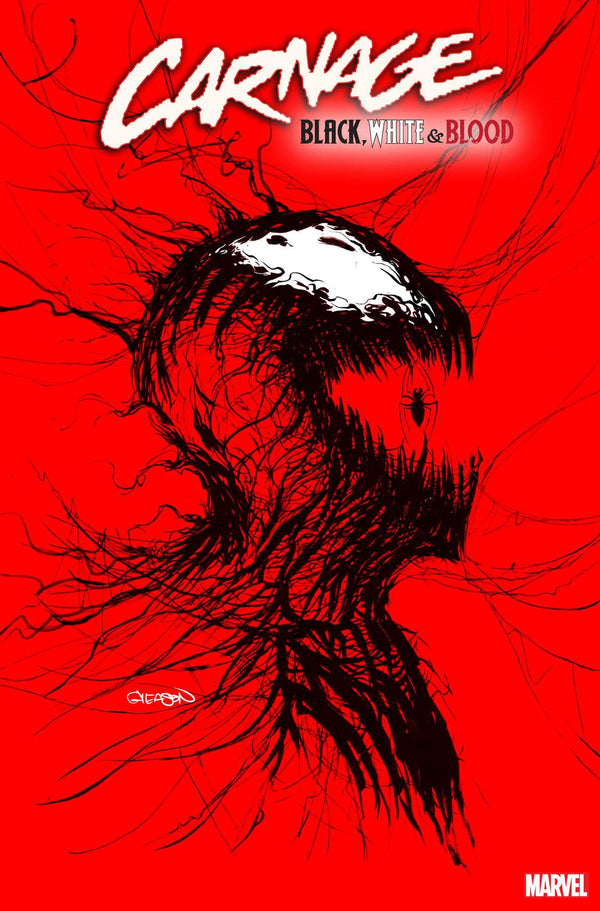 CARNAGE BLACK WHITE AND BLOOD #1 GLEASON WEBHEAD VARIANT,  - Slab City Comics - UK Comic Shop