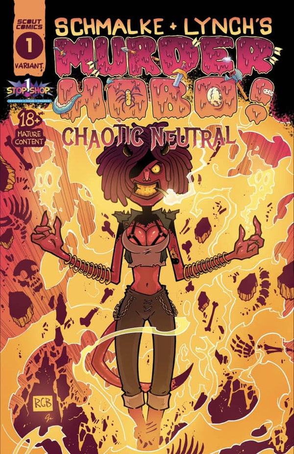 MURDER HOBO CHAOTIC NEUTRAL #1 BROWNE VARIANT - Slab City Comics