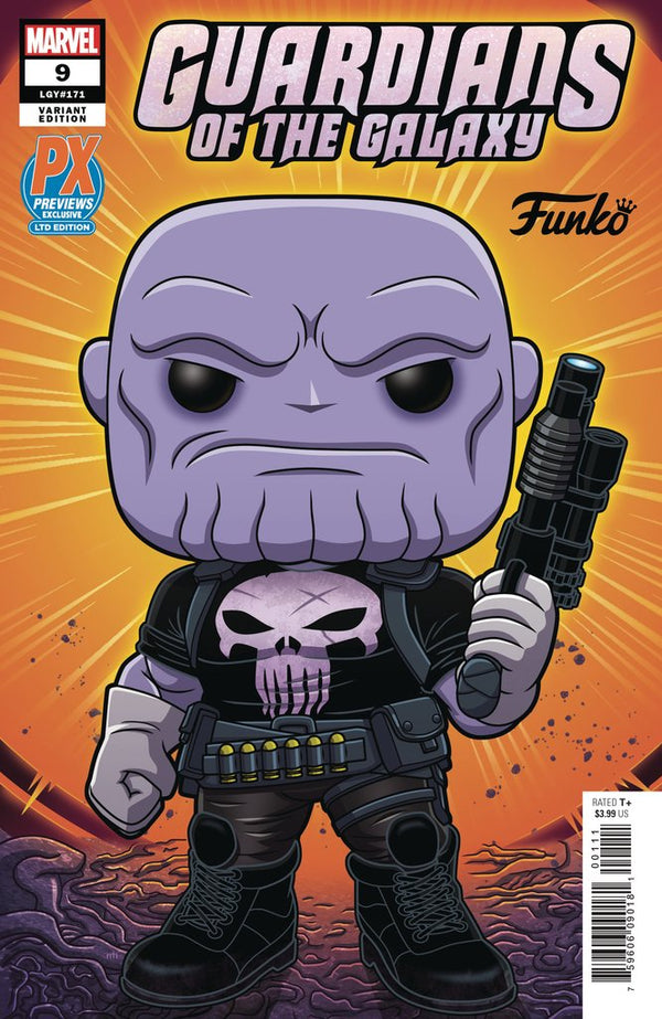 GUARDIANS OF THE GALAXY #9 PUNISHER THANOS FUNKO VARIANT,  - Slab City Comics - UK Comic Shop