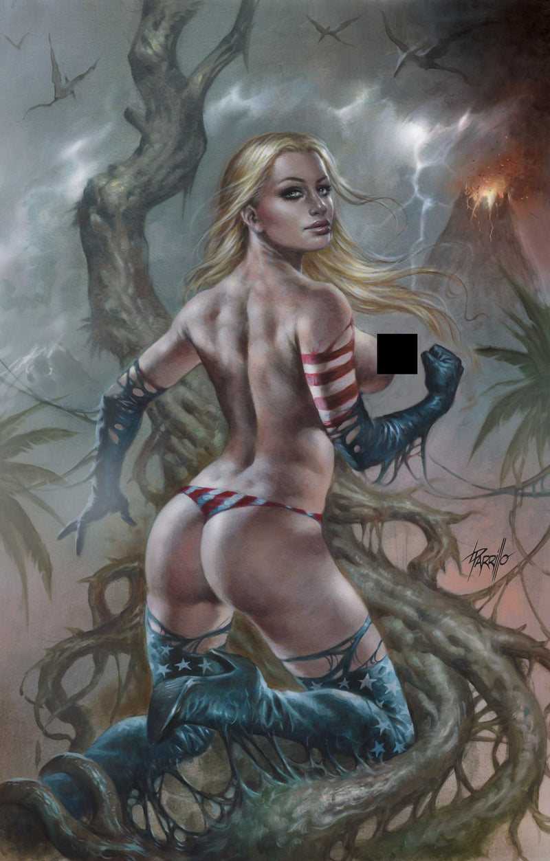"Parrillo Topless Patriotika United ""Forbidden Cheeky Jungle"",  - Slab City Comics - UK Comic Shop"
