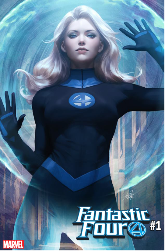 FANTASTIC FOUR #1 ARTGERM INVISIBLE WOMAN VARIANT - Slab City Comics
