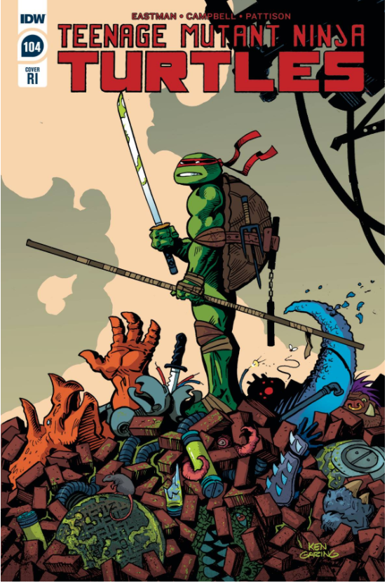 TMNT ONGOING #104 1:10 GARING VARIANT,  - Slab City Comics - UK Comic Shop