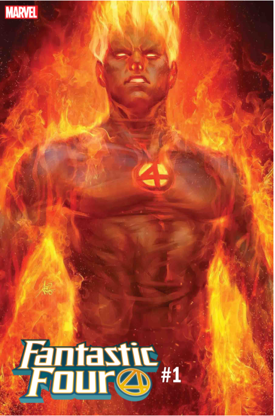 FANTASTIC FOUR #1 ARTGERM HUMAN TORCH VARIANT - Slab City Comics