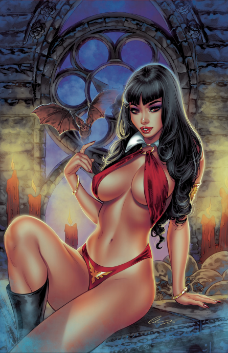 VAMPIRELLA #18 ELIAS CHATZOUDIS EXCLUSIVE VIRGIN VARIANT - Slab City Comics
