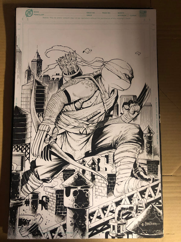 TMNT #105 ORIGINAL ARTWORK BY EMIL CABALTIERRA - Slab City Comics