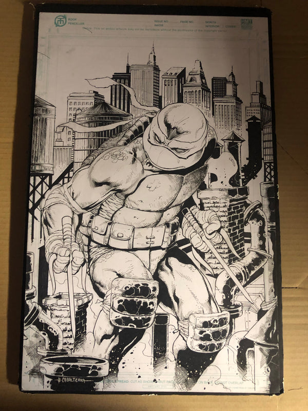 TMNT #102 ORIGINAL ARTWORK BY EMIL CABALTIERRA - Slab City Comics