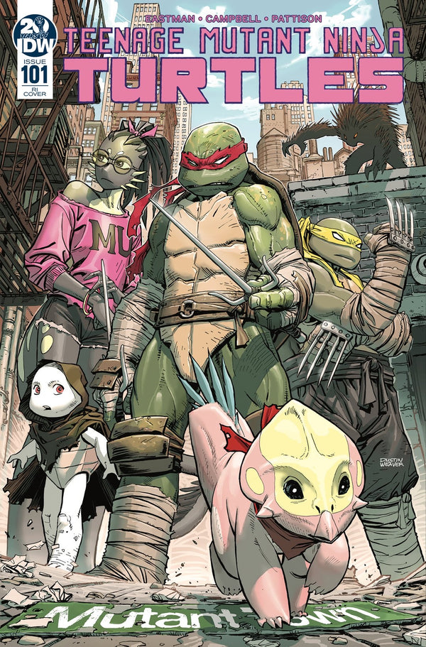 TMNT ONGOING #101 1:10  INCENTIVE WEAVER VARIANT
